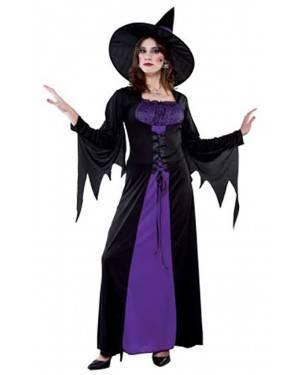 Fato Bruxa Púrpura Adulto