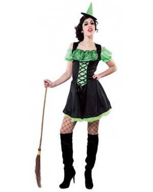Fato Bruxa Verde Adulto