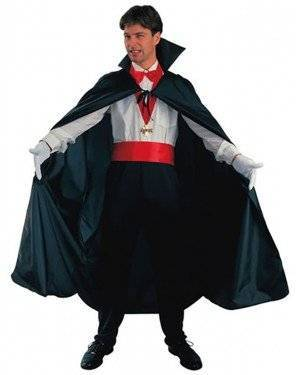 Fato Capa Vampiro Preto Adulto