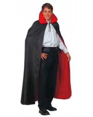 Fato Capa Vampiro Reversível Preto-Rojo Adulto
