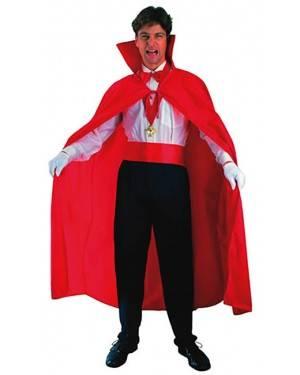 Fato Capa Vampiro Vermelho Adulto Halloween