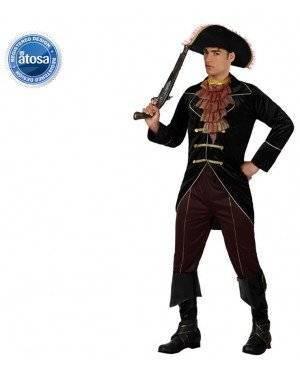 Fato Capitão Pirata Elegante Adulto