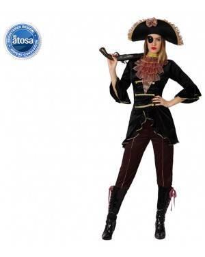 Fato Capitão Pirata Elegante Mulher