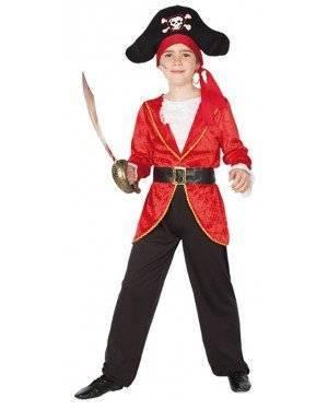 Fato Capitão Pirata Menino