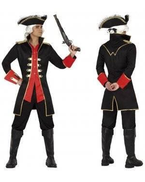 Fato Capitão Pirata Preto Adulto