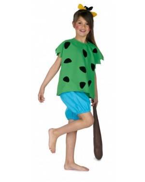 Fato Cavernicola Verde Infantil para Carnaval e Festas