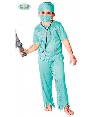 Fato Cirurgião Zombie para Menino para Carnaval o Halloween 12012 | A Casa do Carnaval.pt