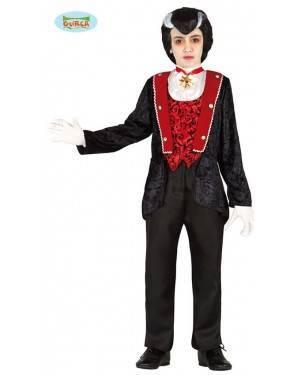 Fato Conde Vampiro para Menino para Carnaval o Halloween 12467 | A Casa do Carnaval.pt
