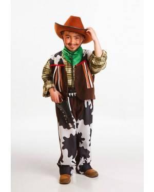 Fato Cowboy Menino Tamanho 5 a 7 Anos para Carnaval o Halloween 91967 | A Casa do Carnaval.pt