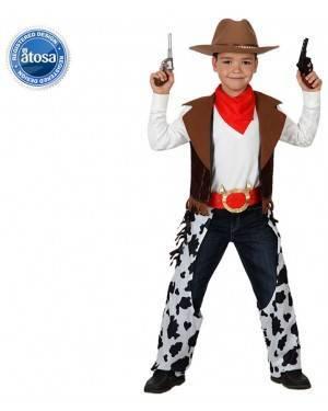 Fato Cowboy Vaqueiro Malhado Menino, Loja de Fatos Carnaval, Disfarces, Artigos para Festas, Acessórios de Carnaval, Mascaras, Perucas 529 acasadocarnaval.pt