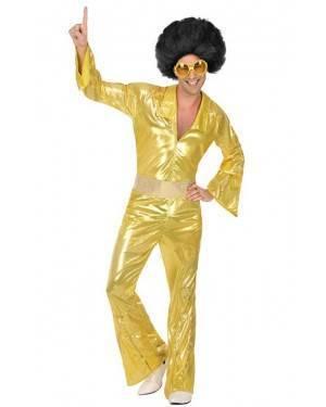 Fato de Disco Dourado Homem