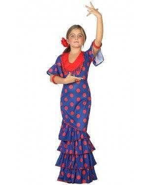 Fato de Flamenga Azul Infantil para Carnaval o Halloween | A Casa do Carnaval.pt