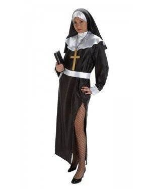 Fato de Monja Adulta M para Carnaval o Halloween | A Casa do Carnaval.pt