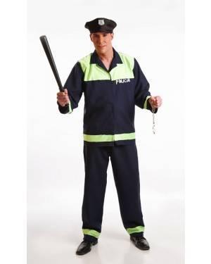 Fato de Polícia Adulto M/L para Carnaval o Halloween | A Casa do Carnaval.pt
