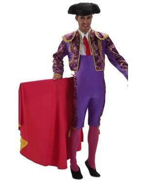 Fato de Toureiro Roxo Adulto M/L para Carnaval o Halloween | A Casa do Carnaval.pt