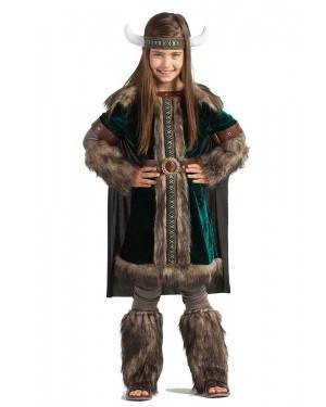 Fato de Viking Verde Menina