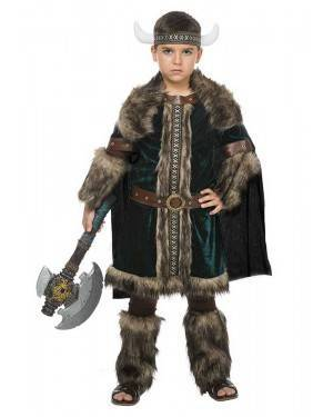 Fato de Viking Verde Menino