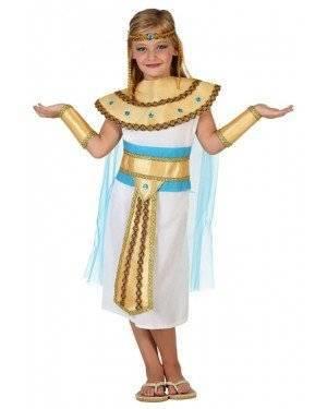 Fato Egipcia Branco Dourado Menina, Loja de Fatos Carnaval, Disfarces, Artigos para Festas, Acessórios de Carnaval, Mascaras, Perucas 427 acasadocarnaval.pt