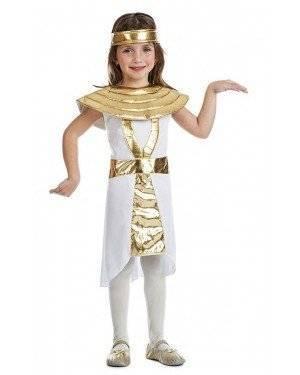 Fato Egipcia Cleópatra 10-12 Anos para Carnaval