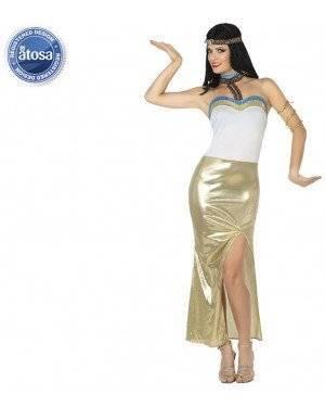 Fato Egipcia Dourada Sexy Adulto, Loja de Fatos Carnaval, Disfarces, Artigos para Festas, Acessórios de Carnaval, Mascaras, Perucas 147 acasadocarnaval.pt