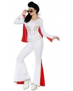 Fato Elvis Mulher Adulto, Loja de Fatos Carnaval, Disfarces, Artigos para Festas, Acessórios de Carnaval, Mascaras, Perucas, Chapeus 343 acasadocarnaval.pt