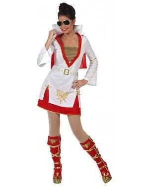 Fato Elvis Rock Mulher, Loja de Fatos Carnaval, Disfarces, Artigos para Festas, Acessórios de Carnaval, Mascaras, Perucas, Chapeus 773 acasadocarnaval.pt