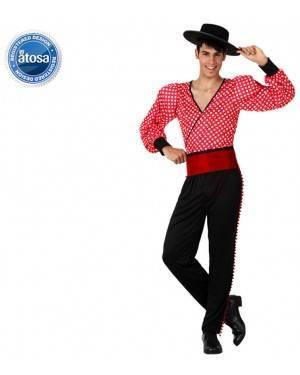Fato Espanhol Flamenco Vermelho Adulto