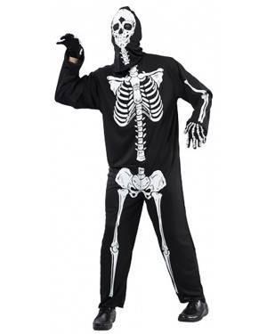 Fato Esqueleto Halloween Adulto