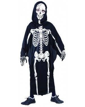 Fato Esqueleto Halloween Menino