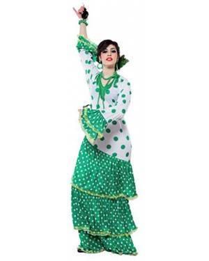 Fato Flamenco Sevilhana Verde Adulto