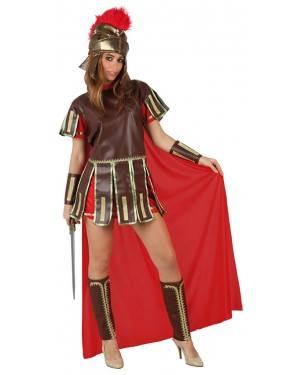 Fato Gladiador Romana Vermelha Mulher
