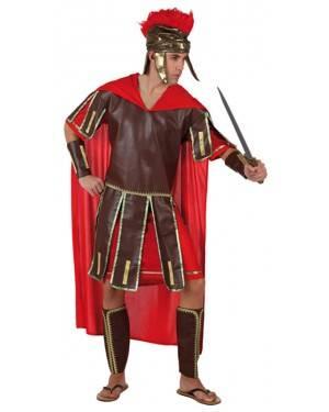 Fato Gladiador Romano Vermelho Adulto