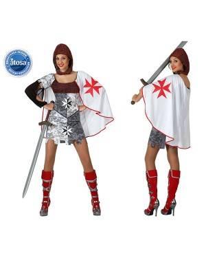 Fato Guerreira Medieval Templario Mulher
