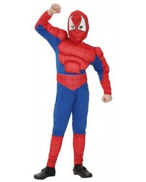 Fato Herói Aranha Musculoso Menino