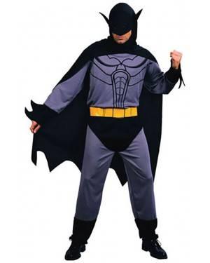 Fato Herói Morcego Preto Adulto