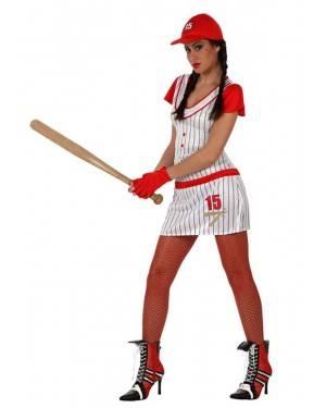 Fato Jogadora de Beisebol do Softball Adulto
