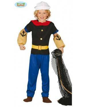 Fato Marinheiro Popeye para Menino para Carnaval o Halloween 11856 | A Casa do Carnaval.pt