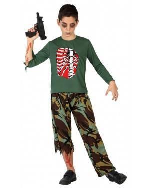 Fato Militar Zombie Menino