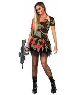 Fato Militar Zombie Sexy Adulto