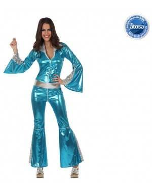 Fato Mulher Disco Azul Adulto