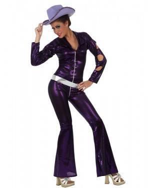 Fato Mulher Disco Púrpura