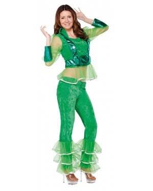 Fato Mulher Disco Verde Adulto