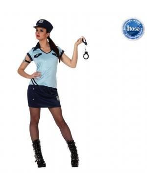Fato Mulher Policia Azul Adulto