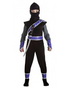 Fato Ninja Preto 10-12 Anos para Carnaval