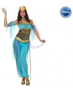 Fato Odalisca Dançarina Harem Azul Adulto
