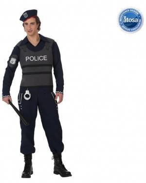 Fato Policia com Colete a Prova de Balas Adulto
