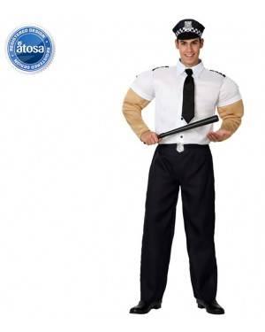 Fato Policia Musculoso Adulto