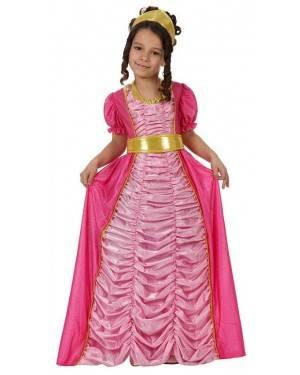 Fato Princesa Rosa de Luxo Menina