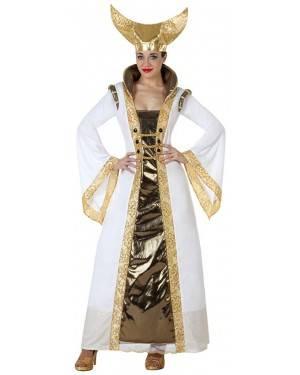 Fato Rainha medieval Branca Adulto