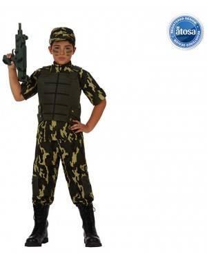 Fato Soldado Camuflagem Menino
